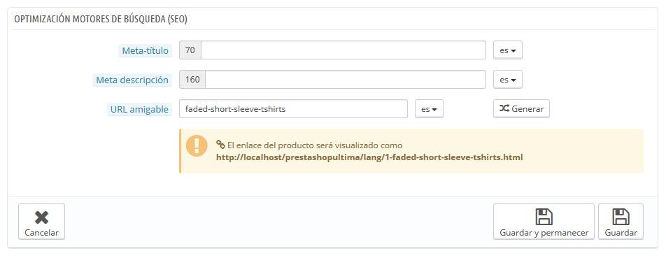 Posicionamiento del producto en los motores de búsqueda